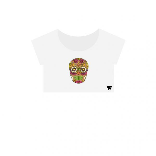Crop Top Brown Skull | Wuzzee