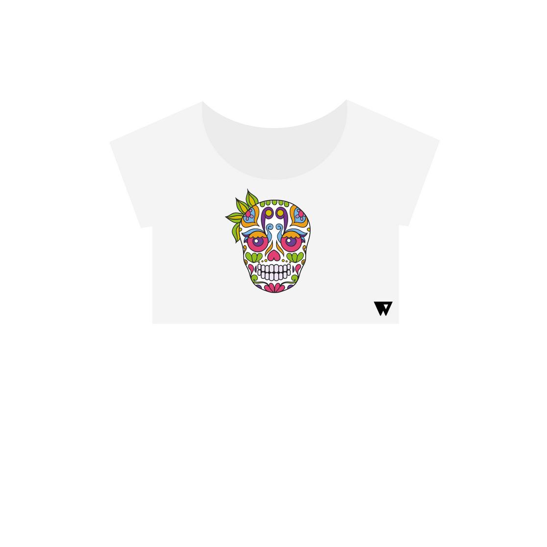 Crop Top Ganja Skull | Wuzzee