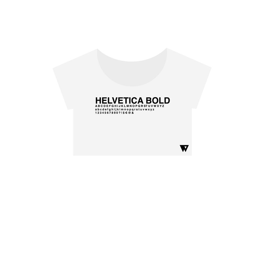 Crop Top Helvetica Bold | Wuzzee