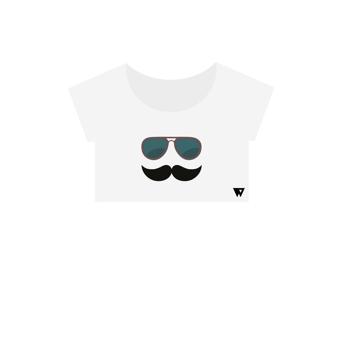 Crop Top Mustache Glasses | Wuzzee