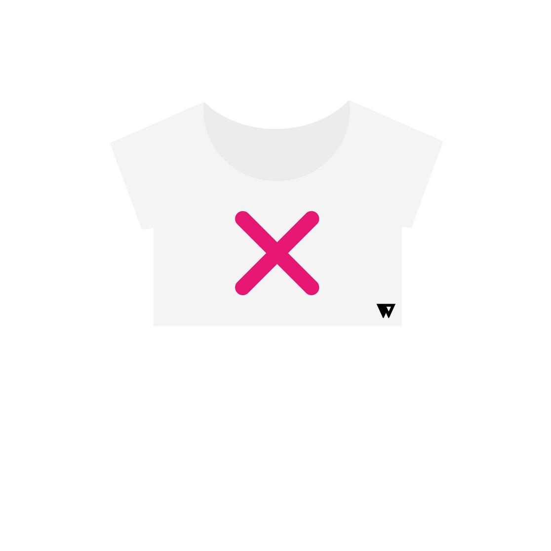 Crop Top Pink Cross | Wuzzee