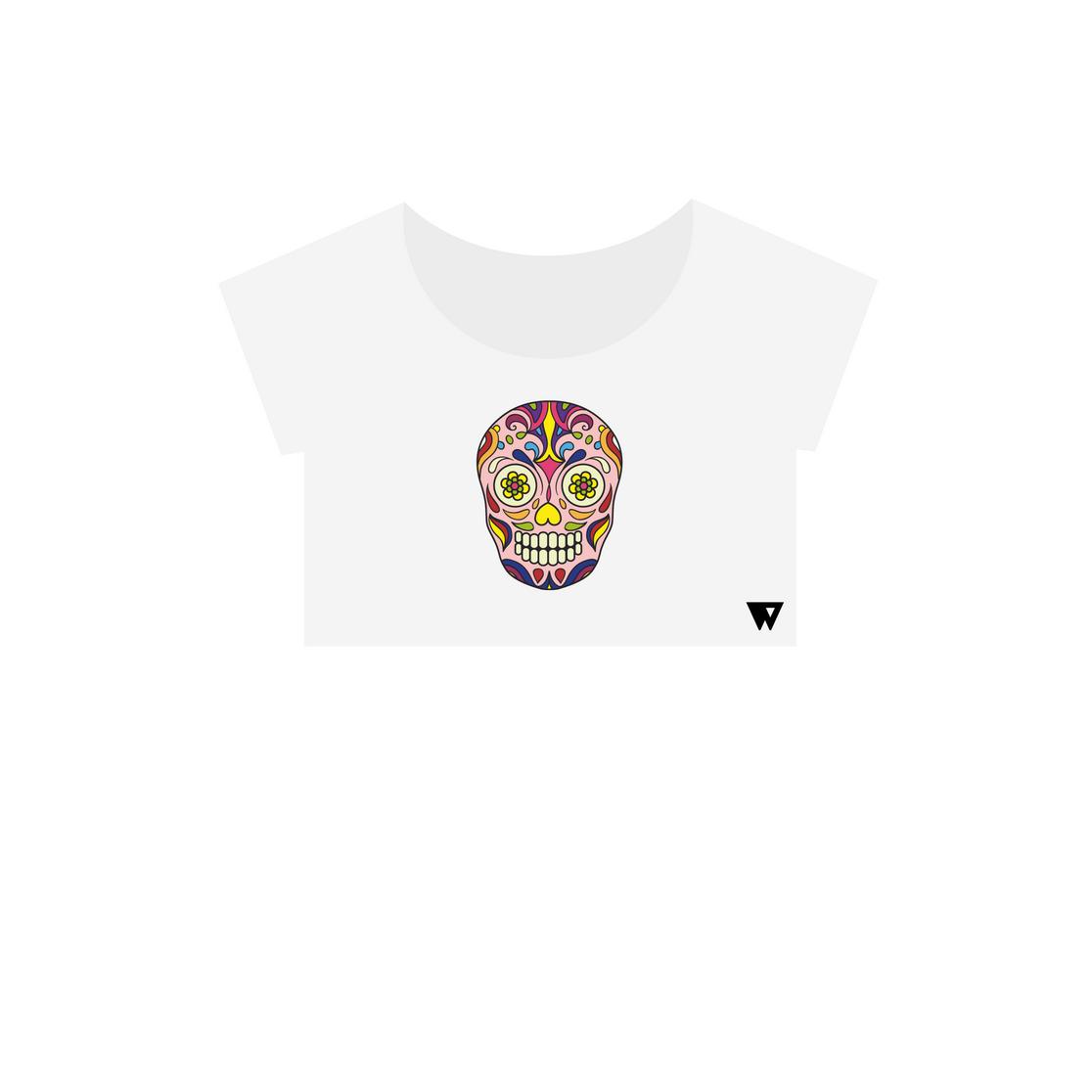 Crop Top Pink Skull | Wuzzee