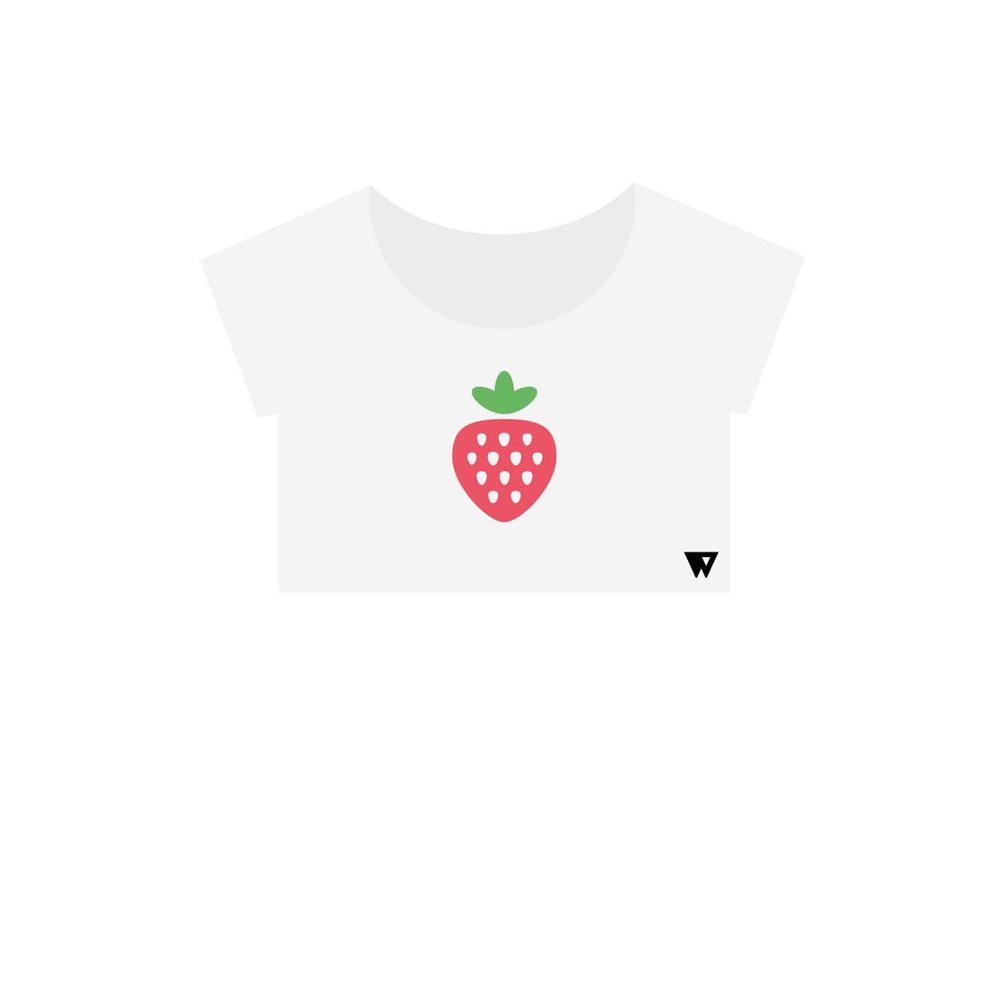 Crop Top Strawberry | Wuzzee