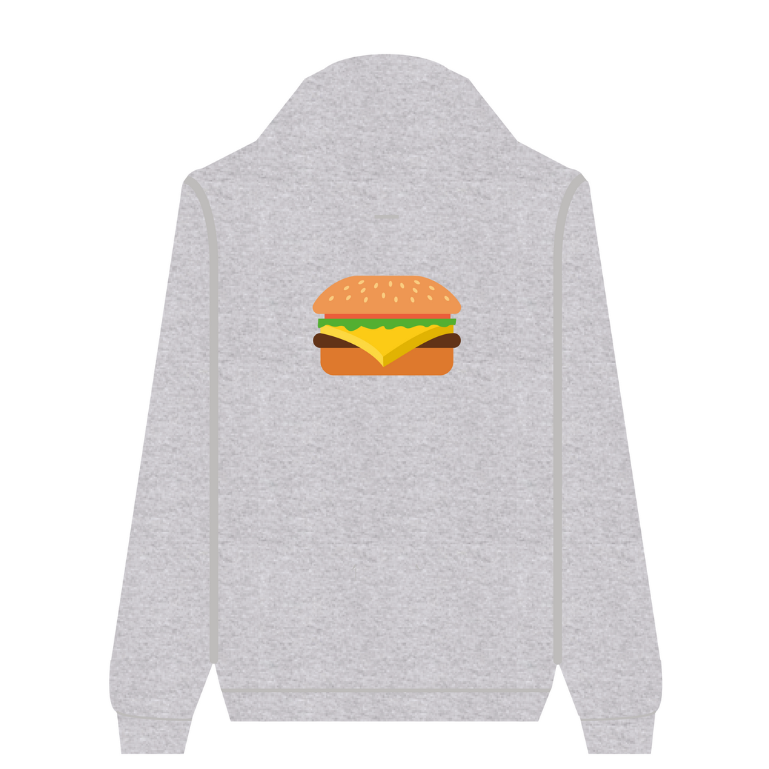 Full Zip Hoodie Burger | Wuzzee