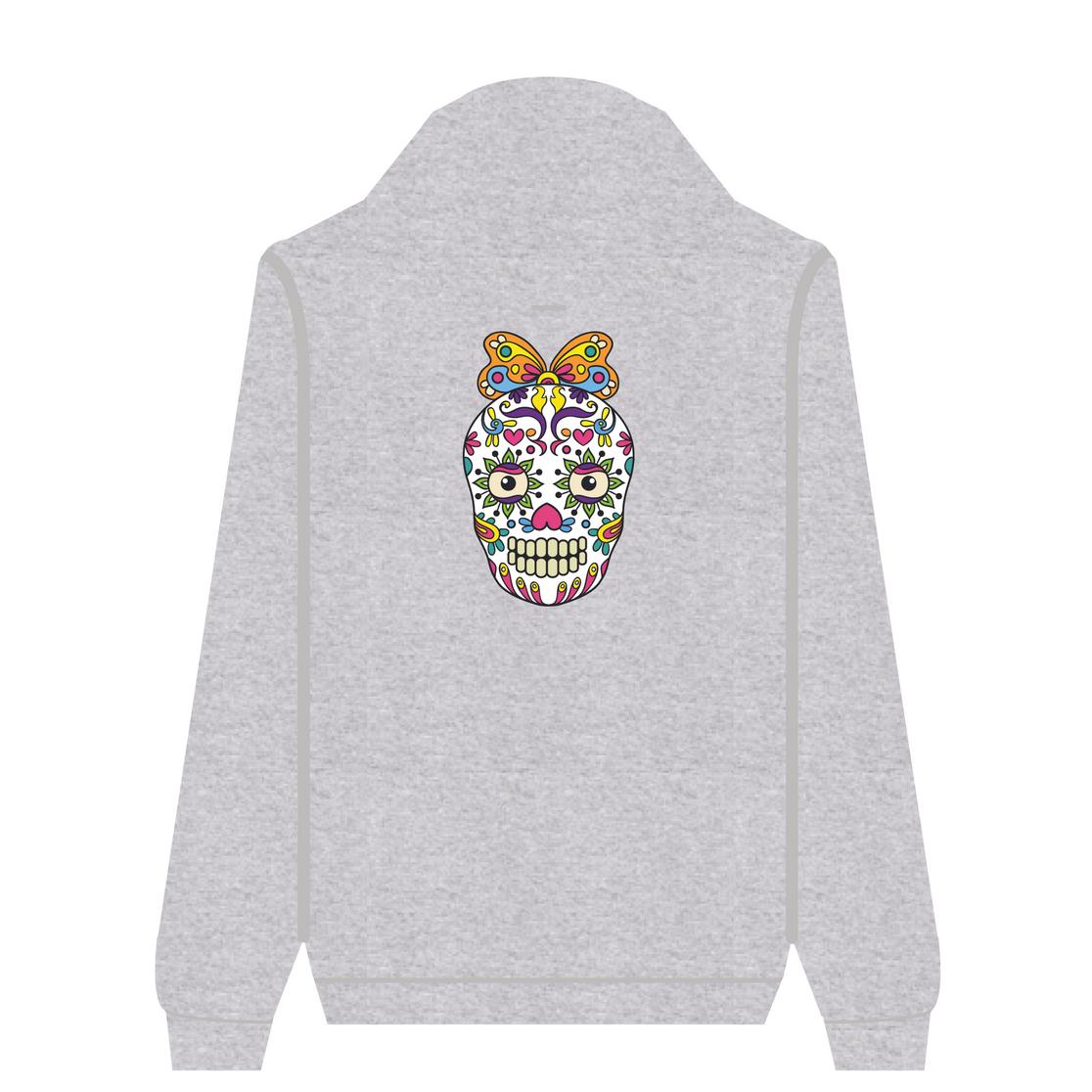 Full Zip Hoodie Butterfly Skull | Wuzzee