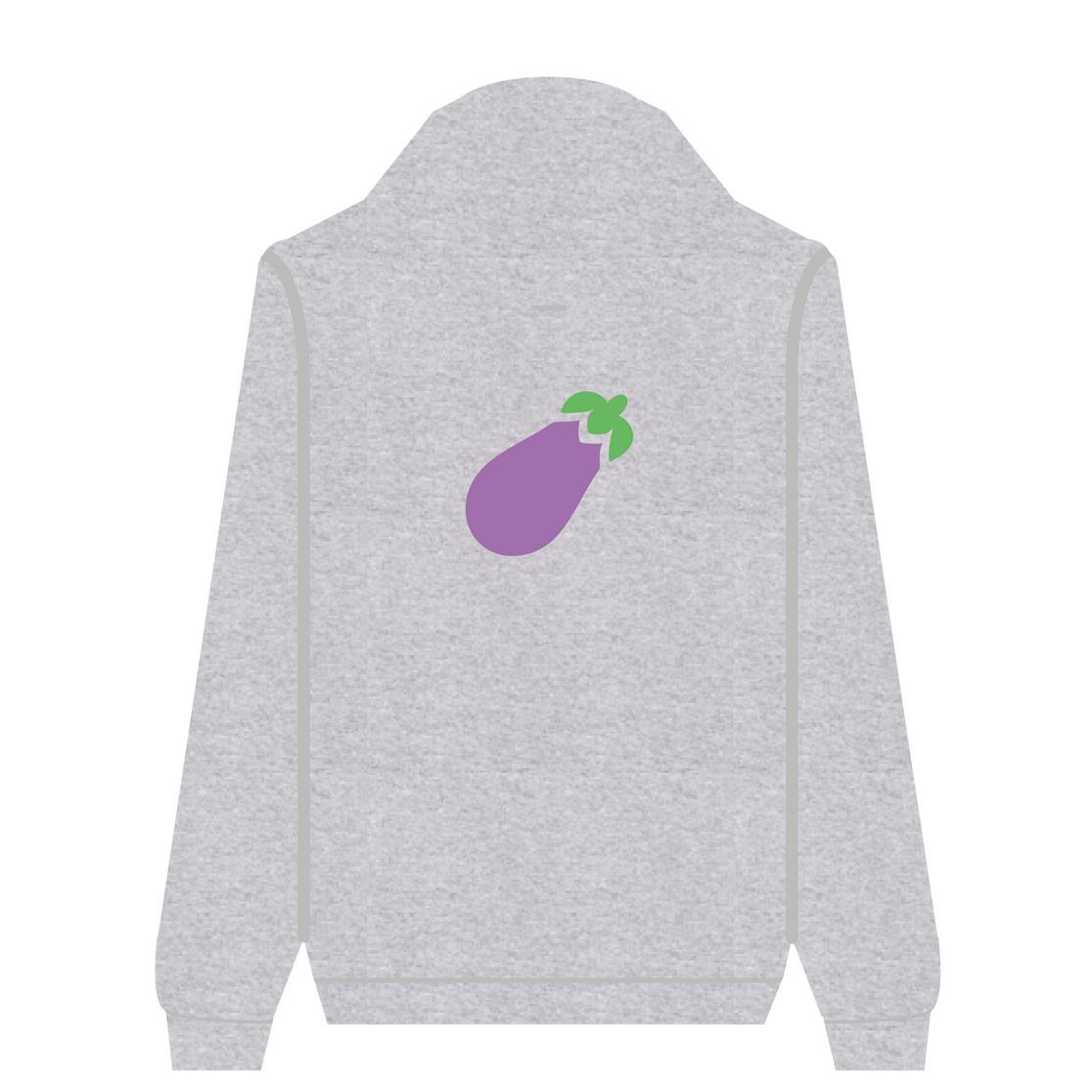 Full Zip Hoodie Eggplant   Wuzzee
