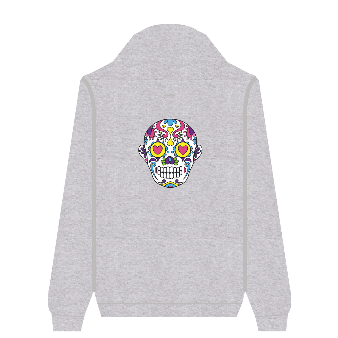 Full Zip Hoodie Love Skull | Wuzzee