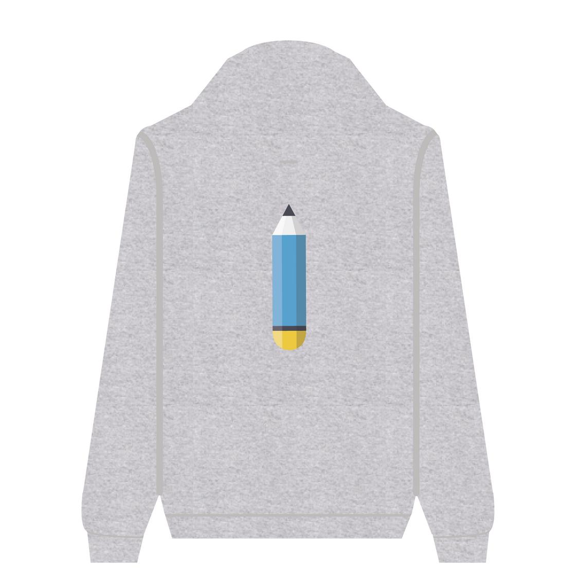 Full Zip Hoodie Pencil | Wuzzee
