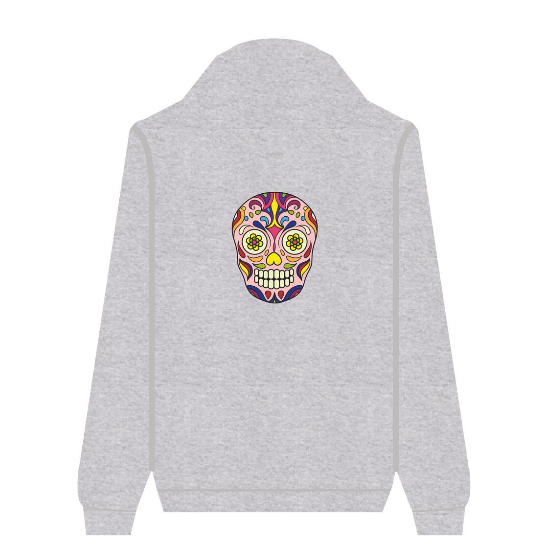 Full Zip Hoodie Pink Skull | Wuzzee