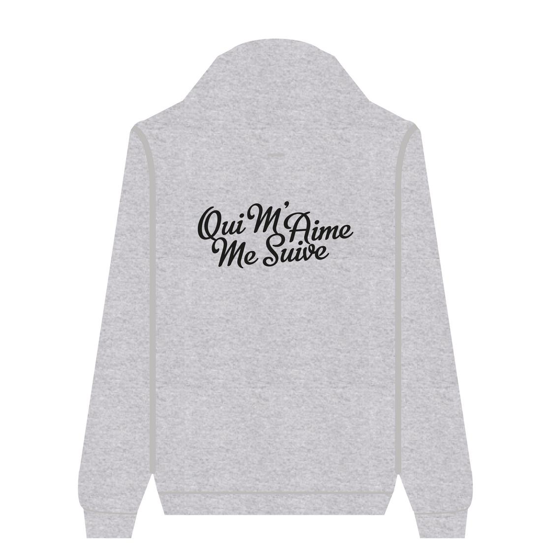 Full Zip Hoodie Qui M'Aime Me Suive | Wuzzee
