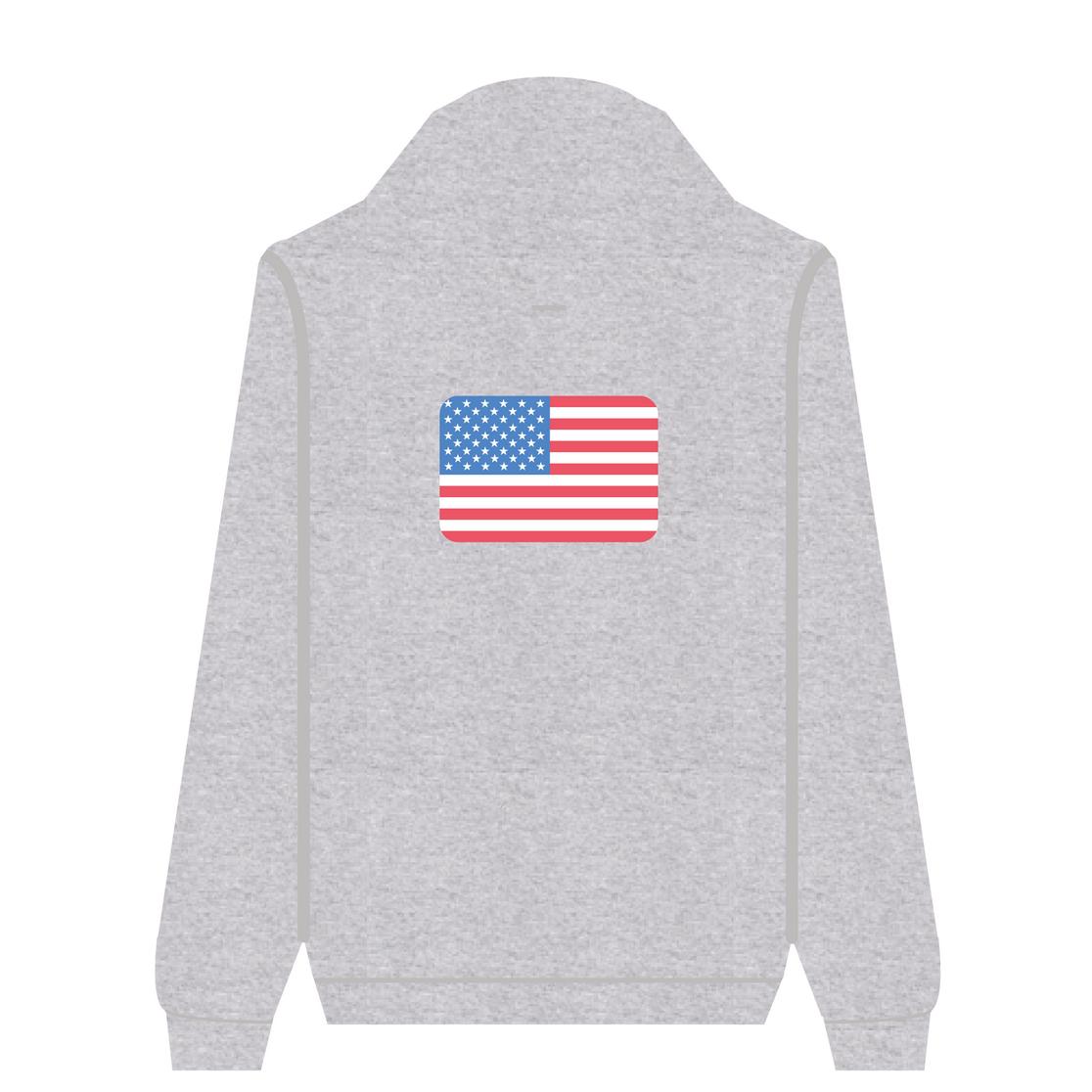 Full Zip Hoodie Usa | Wuzzee