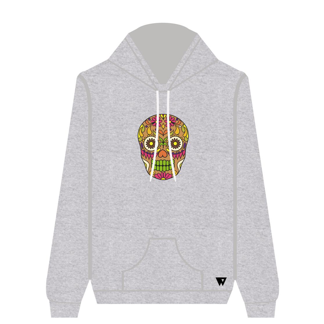 Hoodie Brown Skull | Wuzzee