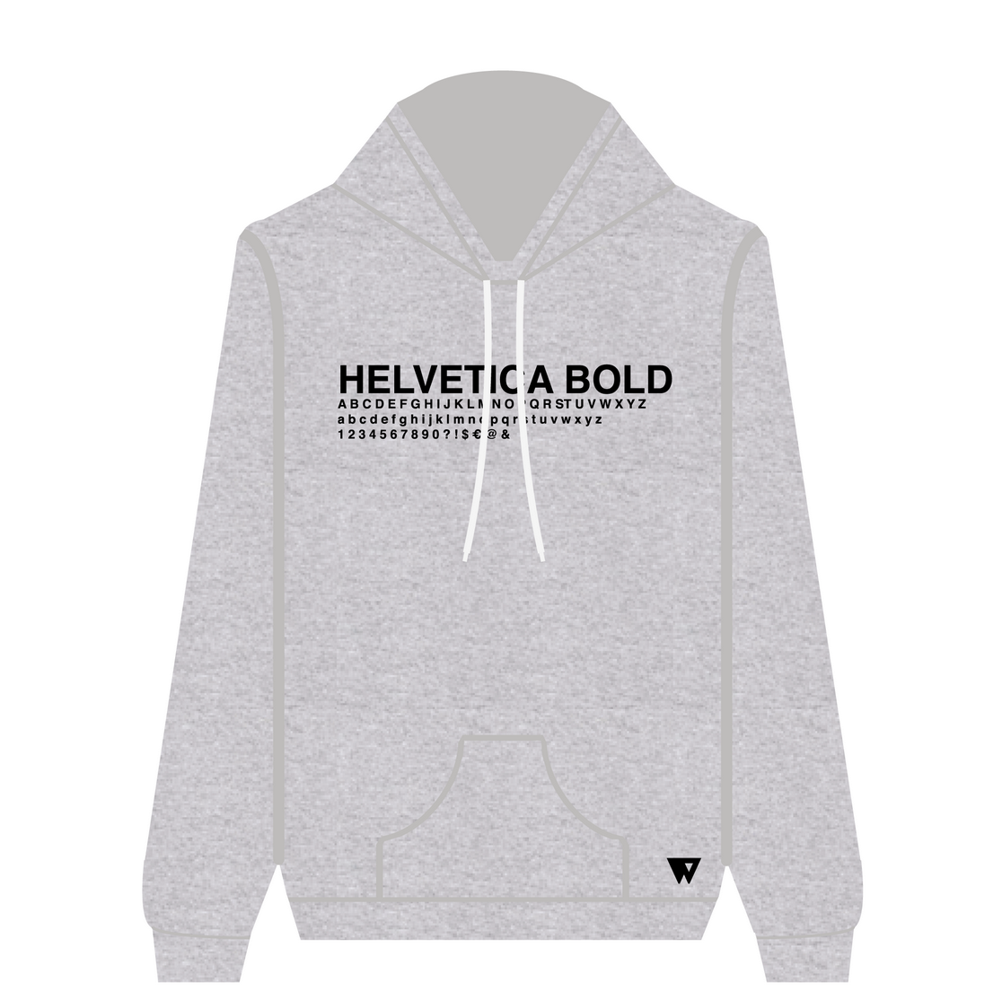 Hoodie Helvetica Bold | Wuzzee
