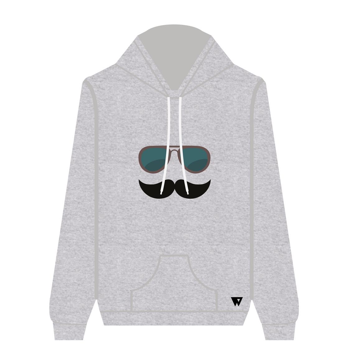Hoodie Mustache Glasses | Wuzzee
