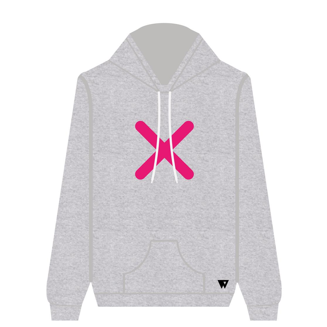 Hoodie Pink Cross   Wuzzee