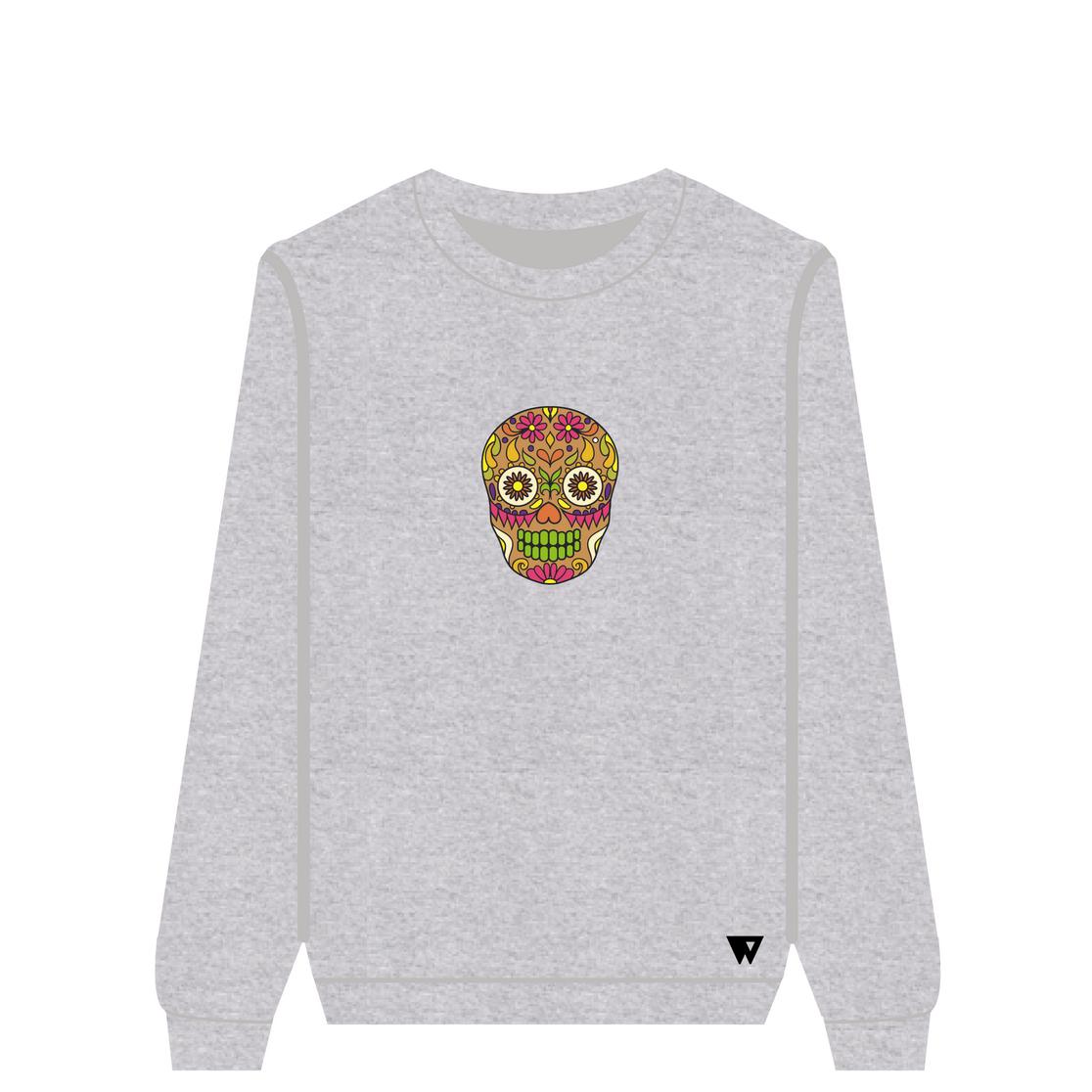Sweatshirt Brown Skull | Wuzzee