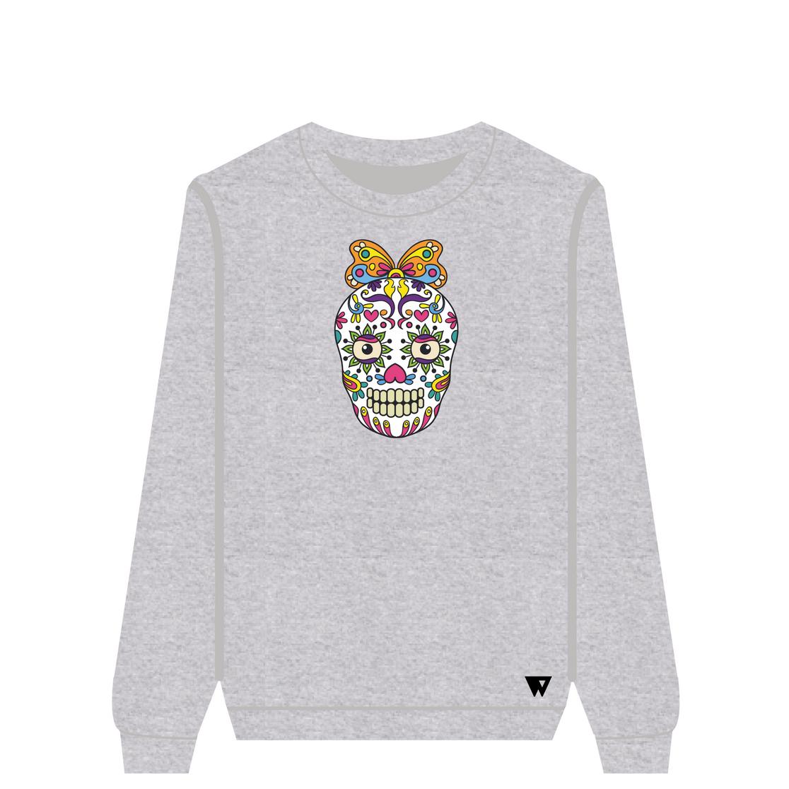 Sweatshirt Butterfly Skull | Wuzzee