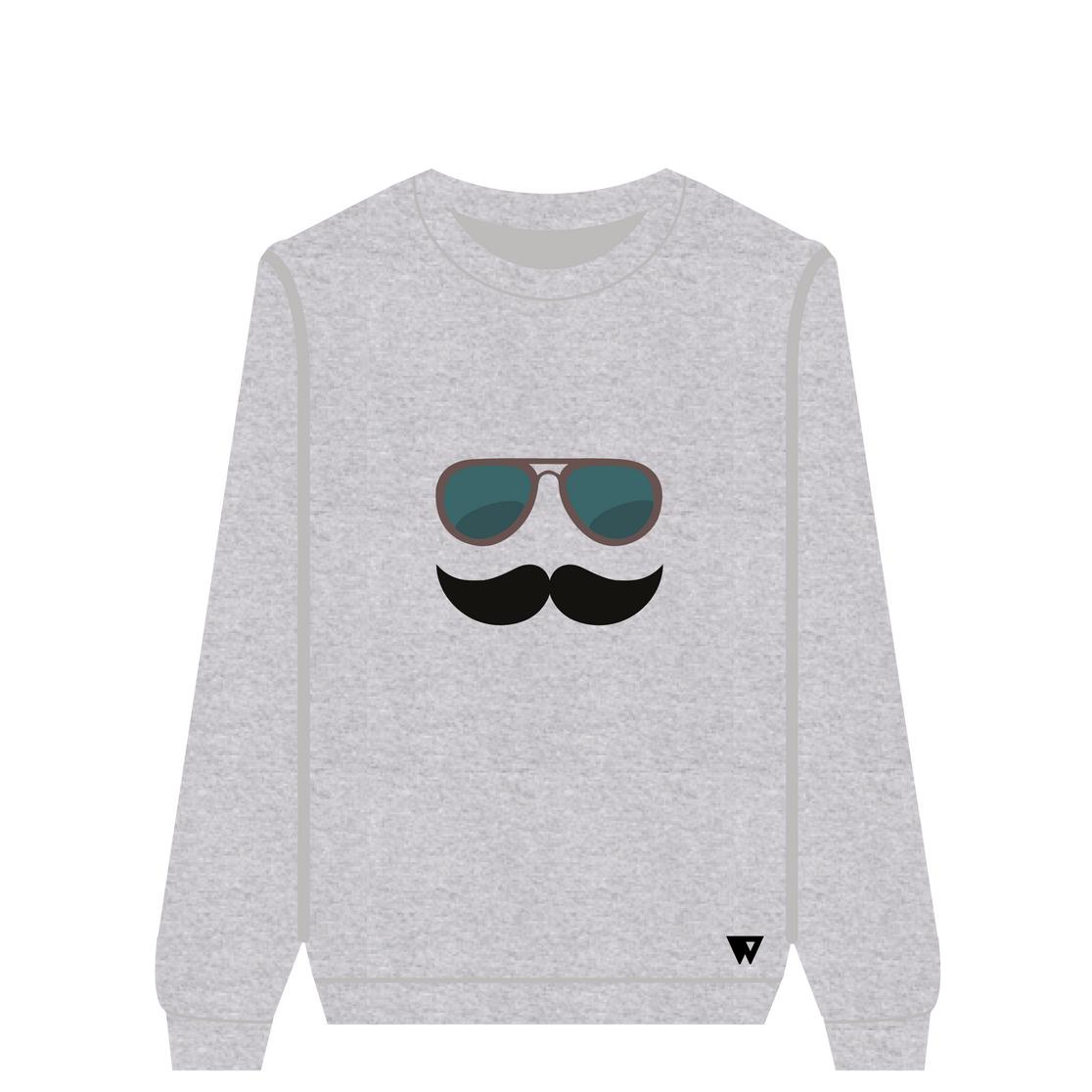 Sweatshirt Mustache Glasses | Wuzzee
