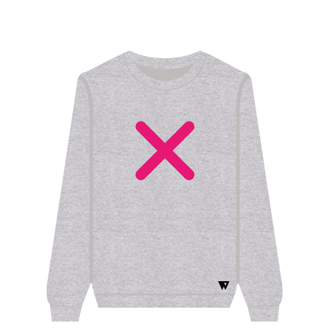 Sweatshirt Pink Cross | Wuzzee