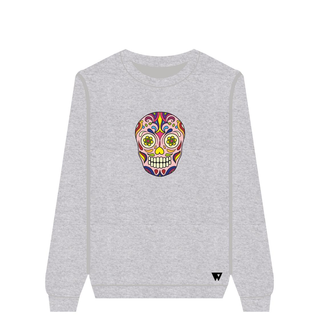 Sweatshirt Pink Skull | Wuzzee