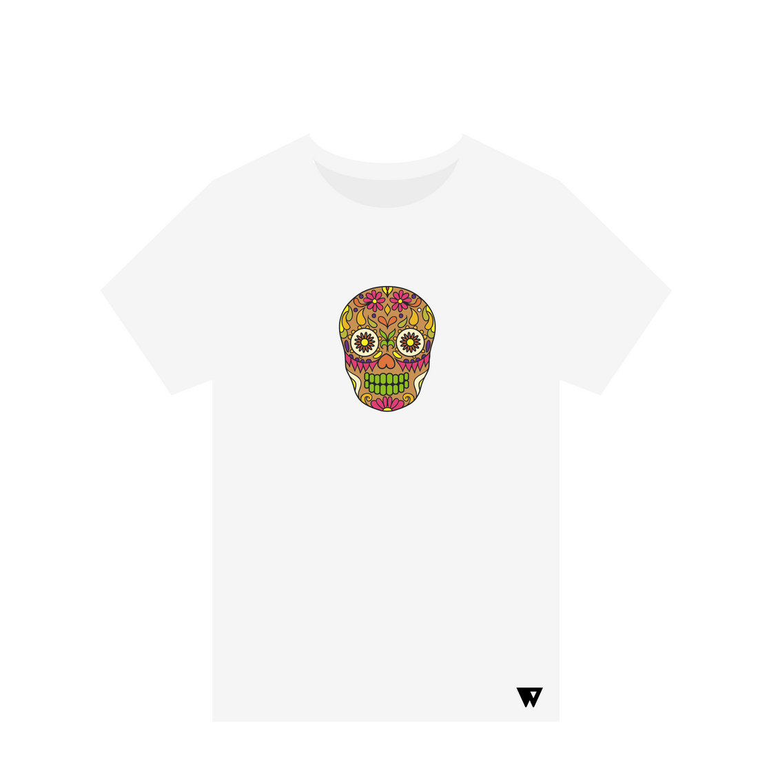 T-Shirt Brown Skull | Wuzzee