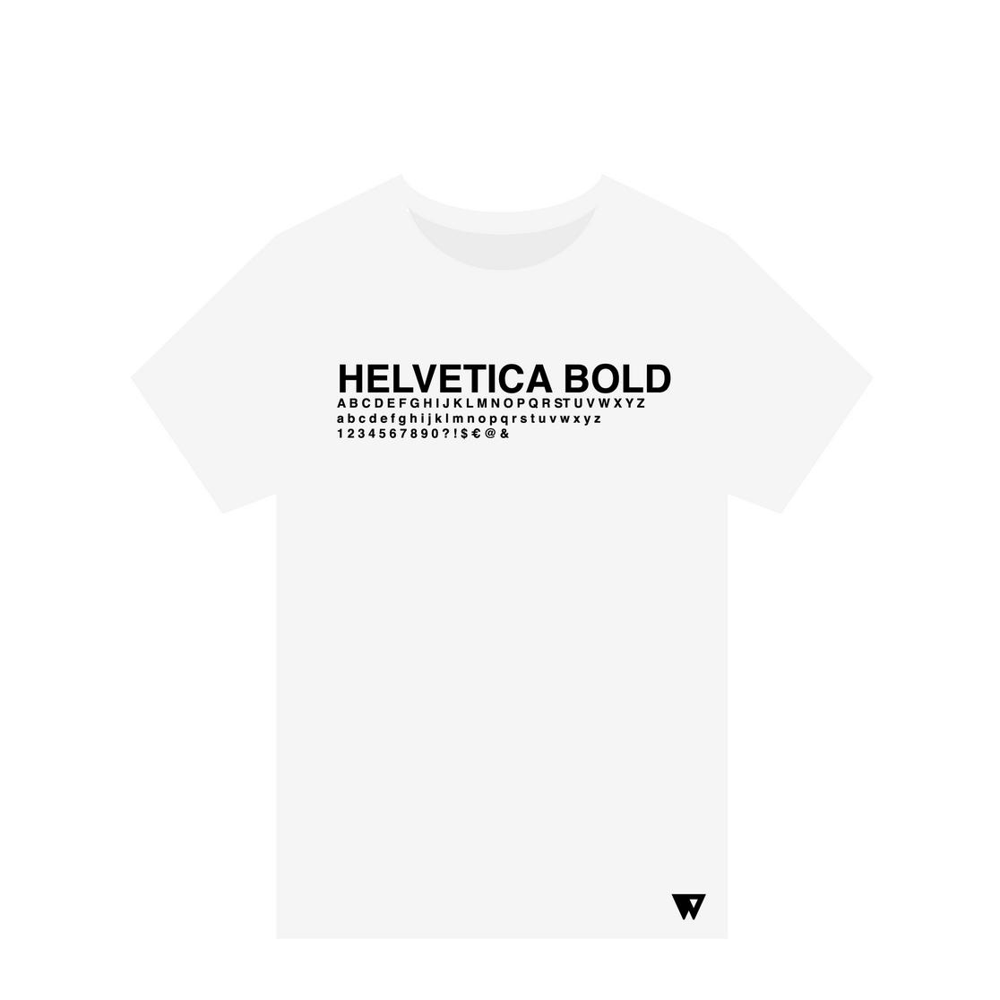 T-Shirt Helvetica Bold | Wuzzee