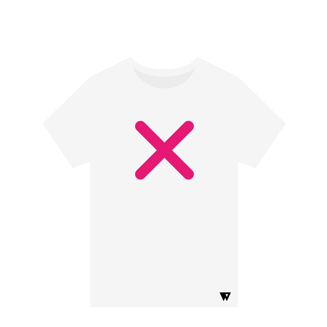 T-Shirt Pink Cross | Wuzzee