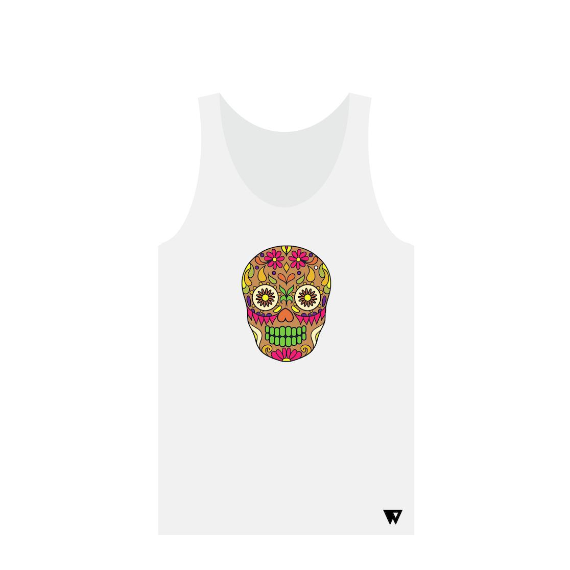 Tank Top Brown Skull | Wuzzee