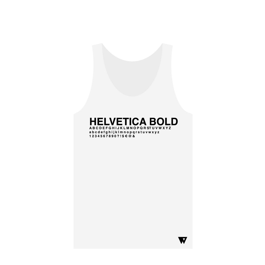 Tank Top Helvetica Bold | Wuzzee