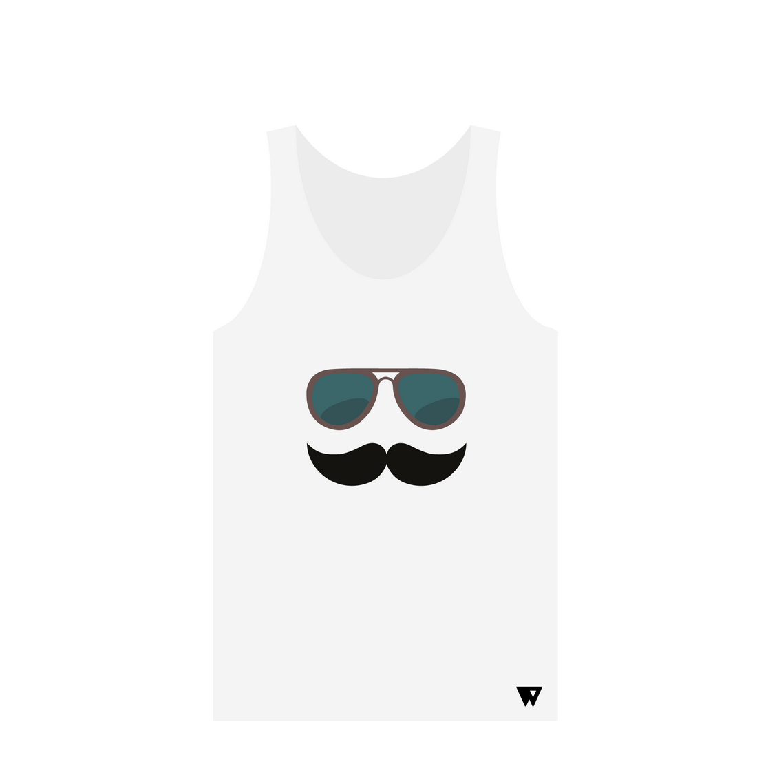 Tank Top Mustache Glasses | Wuzzee